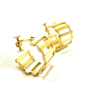 Vintage Hoop Ladder Screwback Earrings